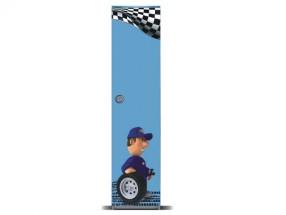 Junior mechanik - Skriňa (sivá / modrá, 1x dvere)