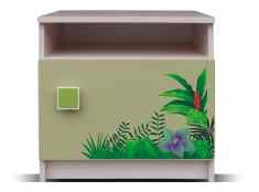 Junior - Nočný stolík, džungľa 17 (breza/zelená)