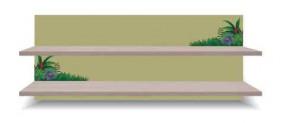 Junior - Polica, džungľa 14 (breza/zelená)