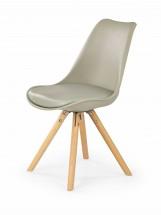 K201 - Jedálenská stolička (khaki, buk)