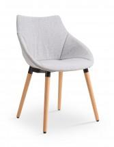 K226 - Jedálenská stolička (drevo, látka)