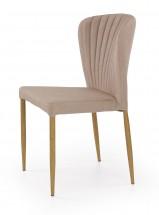 K236 - Jedálenská stolička, béžová (lakovaná ocel, látka)