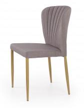 K236 - Jedálenská stolička, sivá (lakovaná ocel, látka)
