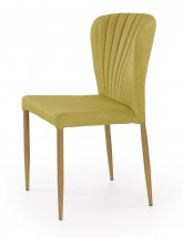 K236 - Jedálenská stolička, zelená (lakovaná ocel, látka)