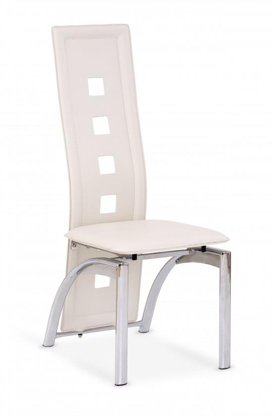 K4 - Jedálenská stolička (krémová, strieborná)