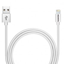 Kabel A-Data Sync&Charge Lightning, 1m, hliníkový, strieborny