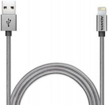 Kabel A-Data Sync & Charge Lightning, 1m, MFi, hliníkový,titan