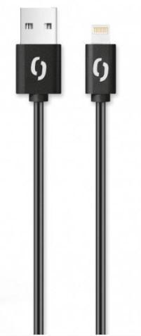 Kábel Aligator Lightning na USB, 2A, 2m, čierna