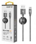 Kábel Aligator Premium Micro USB na USB 2A, čierna