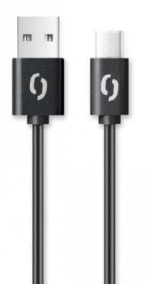 Kábel Aligator USB Typ C na USB, 2A, 2m, čierna