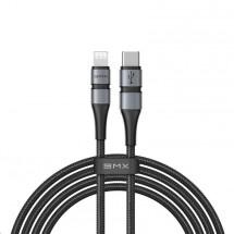 Kábel Baseus, BMXUSB-C na Lightning, 18 W, 1,8 m, sivý/čierny