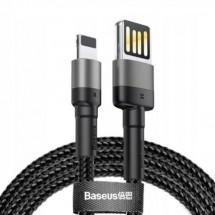 Kábel Baseus Cafule SP, USB na Lightning, 2, 4 A,1 m,sivý/čierny