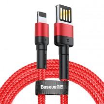 Kábel Baseus Cafule, USB na Lightning, 2, 4 A, 2 m, červený