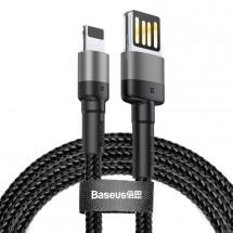 Kábel Baseus Cafule, USB na Lightning, 2, 4 A, 2 m, sivý/čierny