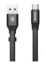 Kábel Baseus, Nimble, USB-C, 0,2 m, čierny