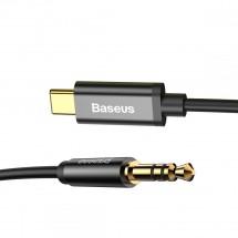 Kábel Baseus USB Typ C na 3,5 mm Jack, 1,2 m, čierna