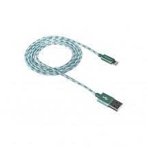 Kábel Canyon Lightning na USB, 1m, pletený, zelená