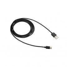 Kábel Canyon USB Typ C na USB, 1,8m, čierna