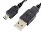 Kábel Forever Mini USB na USB, 1m, čierna