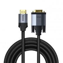 Kábel HDMI/VGA Baseus Enjoyment Series, 2 m, sivý