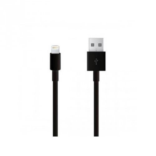 Kábel Lightning na USB, gumový, 1,5m, C11, čierna