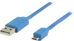 Kábel Nedis Micro USB na USB, 1m, modrá