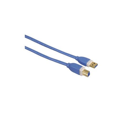 Kabel PremiumCord USB 3.0 A-B 3m, modrý OEM