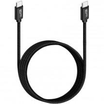 Kábel USB-C to USB-C, 3 A, 3 m, čierny