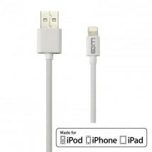 Kábel WG Lightning s MFI na USB, 1m, biela