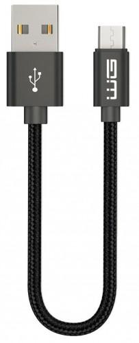 Kábel WG Micro USB na USB, 20cm, čierna