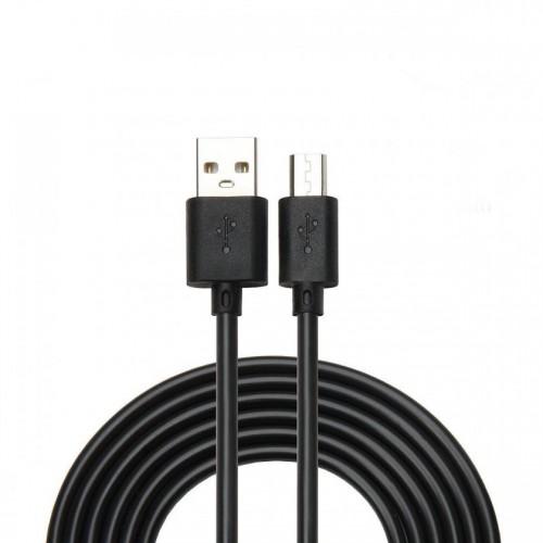 Kábel WG Micro USB na USB, predĺžený konektor, 1m, čierna