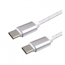 Kábel WG Type-C na Type-C, 3A pre PD nabíjačky, 1m, biela