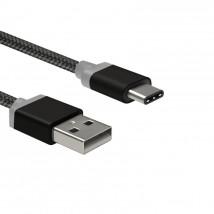 Kábel WG USB Typ C na USB, 1m, čierna