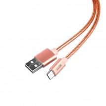 Kábel WG USB Typ C na USB, 1m, ružová
