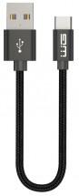 Kábel WG USB Typ C na USB, 20cm, čierna
