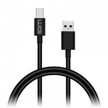 Kábel WG USB Typ C na USB, predĺžený konektor, 1m, čierna