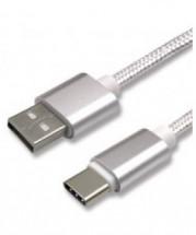 Kábel WG USB Type C na USB, 2,1A, 1m, biela