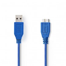 Kábel zástrčka USB 3.0 A#zástrčka USB micro B,1,00 m-VLCP61500L10