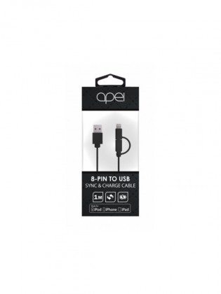Káble k telefónom a Apei MFI 2 in 1 Lightning and MicroUSB cable (black) - 1m