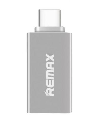Káble k telefónom a REMAX redukcia OTG z USB na Micro USB Typ-C, strieborná