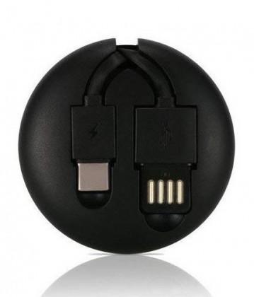 Káble k telefónom a tabletom 2v1 Kábel Remax USB Typ C/Lightning na USB, 1m, čierna