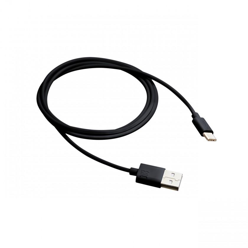 Káble k telefónom a tabletom Kábel Canyon USB Typ C na USB, 1m, čierna