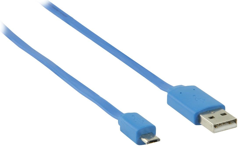 Káble k telefónom a tabletom Kábel Nedis Micro USB na USB, 1m, modrá