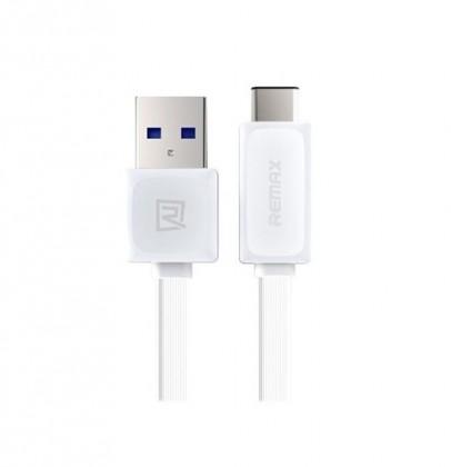 Káble k telefónom a tabletom Kábel Remax USB Typ C na USB, 1m, biela