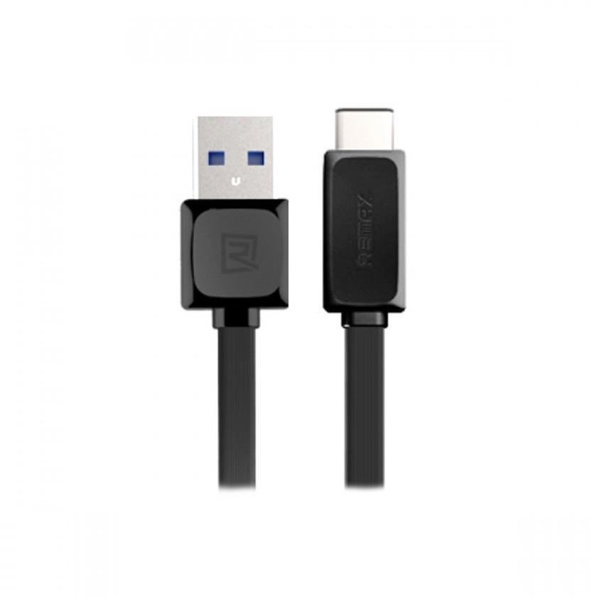 Káble k telefónom a tabletom Kábel Remax USB Typ C na USB, 1m, čierna