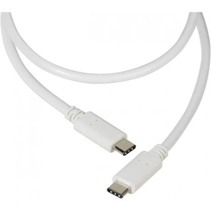 Káble k telefónom a tabletom Kábel Vivanco USB Typ C na USB Typ C 1,2m, biela