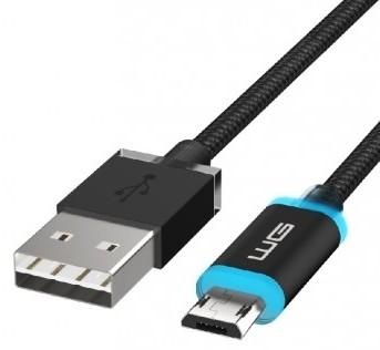 Káble k telefónom a tabletom Kábel WG Micro USB na USB, 1m, LED indikácia nabíjania