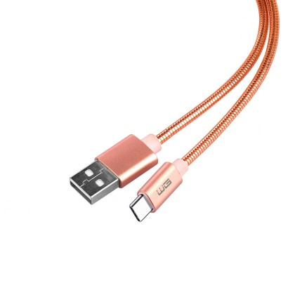 Káble k telefónom a tabletom Kábel WG USB Typ C na USB, 1m, ružová