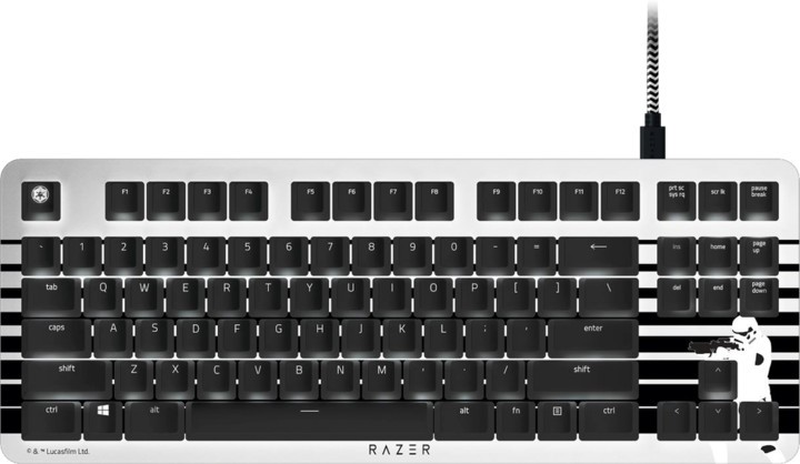 Káblová klávesnica Klávesnica Razer BlackWidow Stormtropper Edition, biela