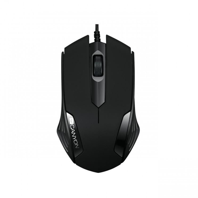 Káblová myš Canyon CNE-CMS02B, optická myš, USB, čierna,